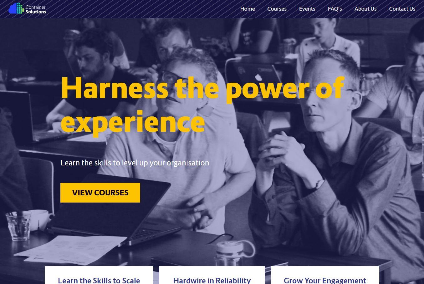 Website, Tech Training Solutions