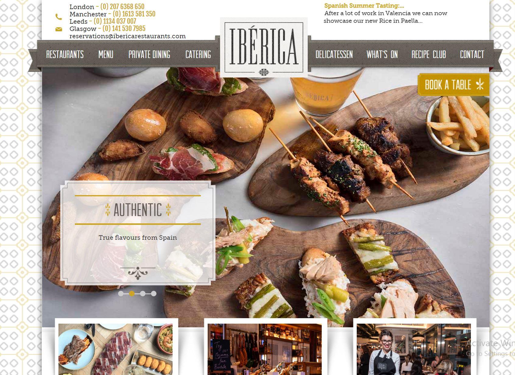 Website, Restaurant Booking