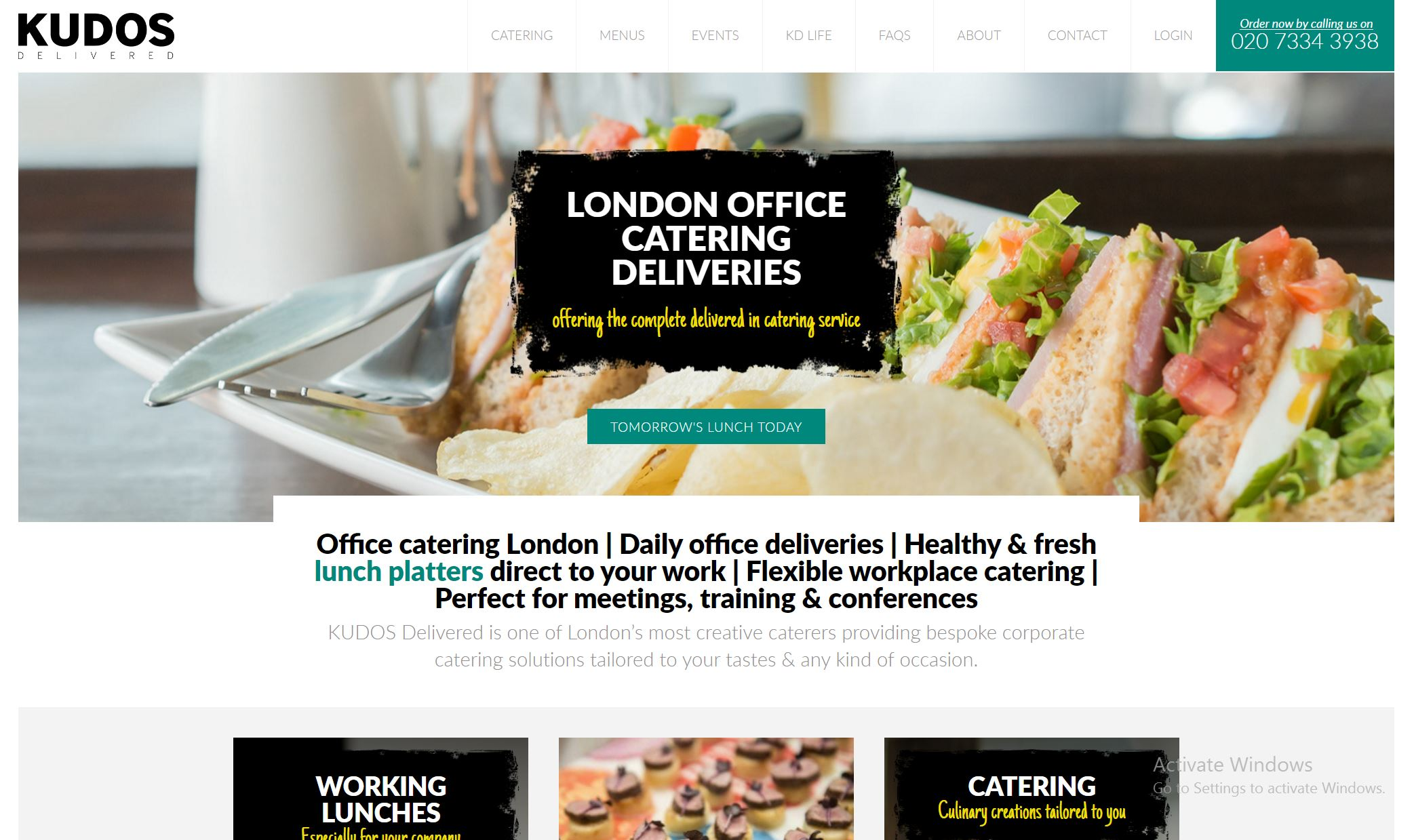 Website, Food Catering