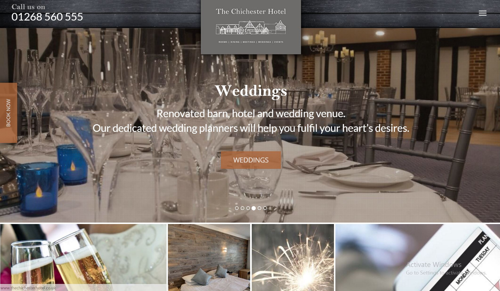 Website, Hotel and Venue