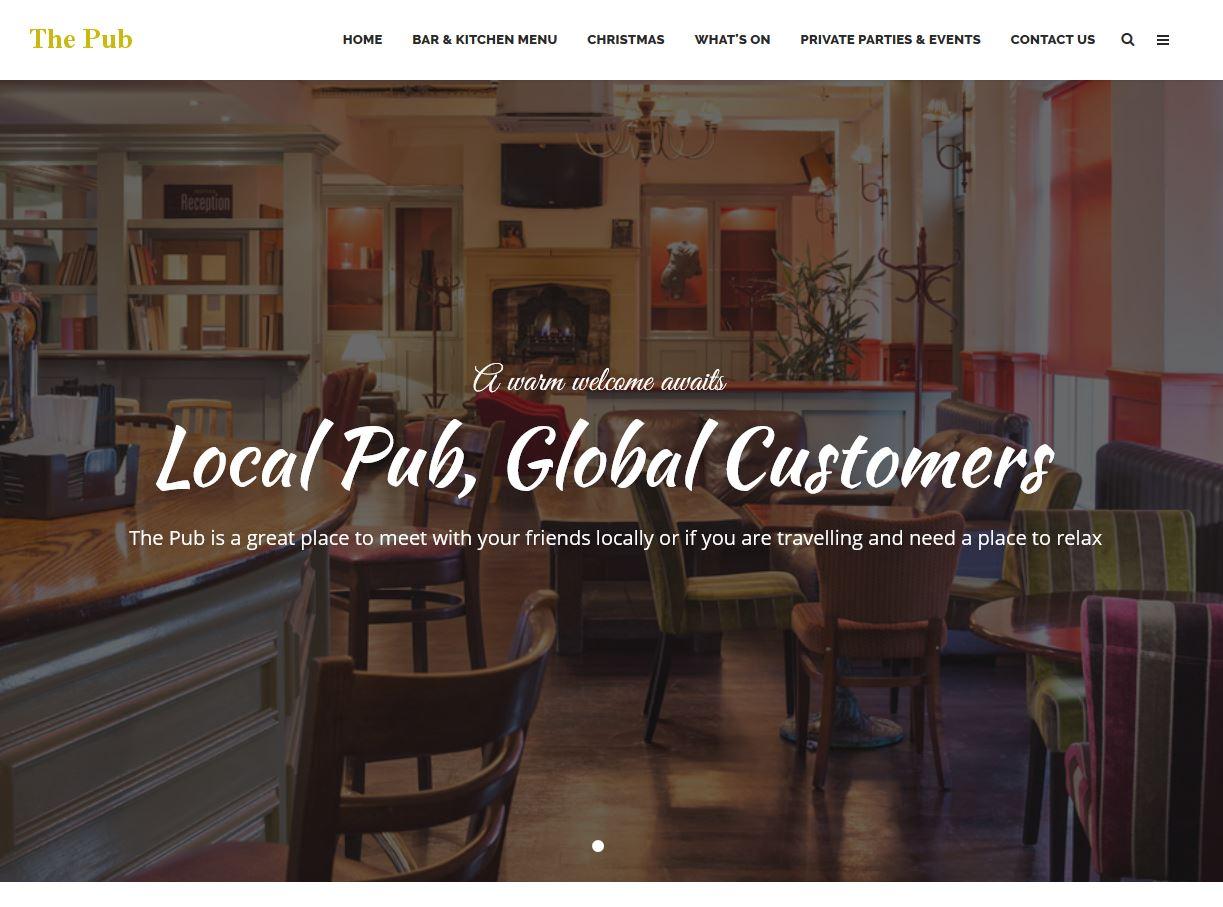 Website, Restaurants