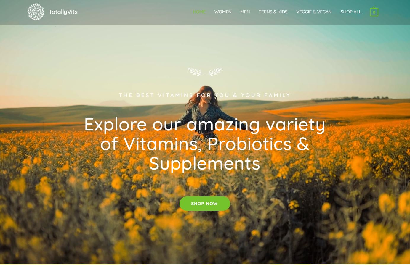 Website, Personal Health and Wellbeing